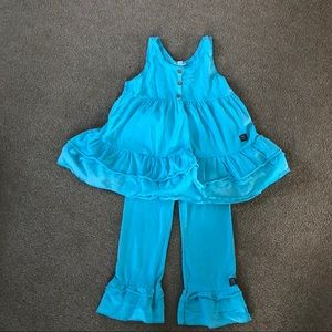 Naartjie Ruffle Swing Top and Capri Pants size 10